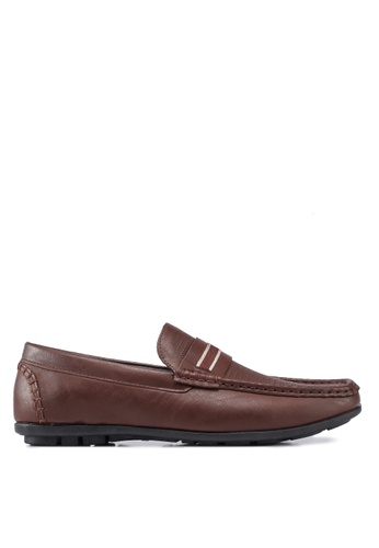 Bata brown Square Toe Loafers 877BFSHCC4AC57GS_1