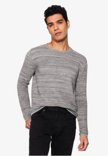 !Solid grey Struan Melange Sweater F0C6CAA0442C11GS_1