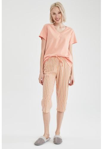 DeFacto beige Woman 2-pieces Homewear Top & Bottom Set 243F6AACD205BFGS_1