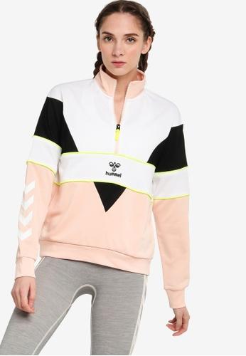Hummel pink Studio Half Zip Sweatshirt CB6FAAA1B9DC9BGS_1