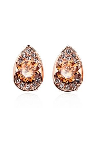 OUXI gold OUXI Earrings 20916 (Topaz) OU821AC26DNLMY_1