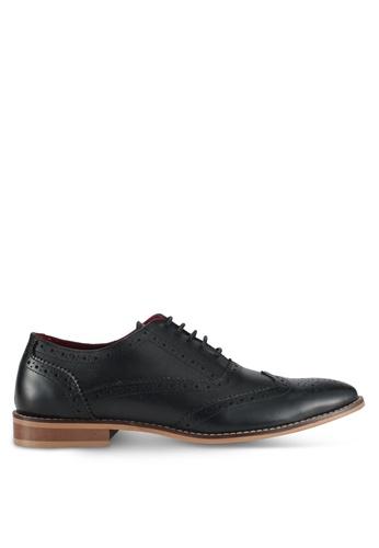 Acuto black Wingtip Leather Dress Shoes AC283SH0SL74MY_1