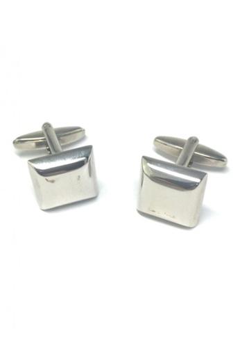 Splice Cufflinks silver Silver Square Dome Cufflinks SP744AC63FRGSG_1