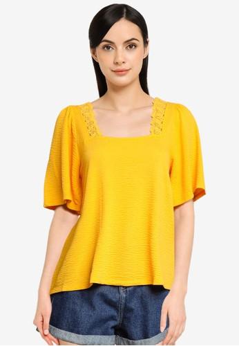 Vero Moda orange and yellow Alice Lace Top 3A563AAD35A262GS_1