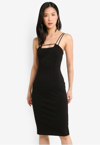 Forever New black Camille Bar Dress A6529AA5BE317BGS_1