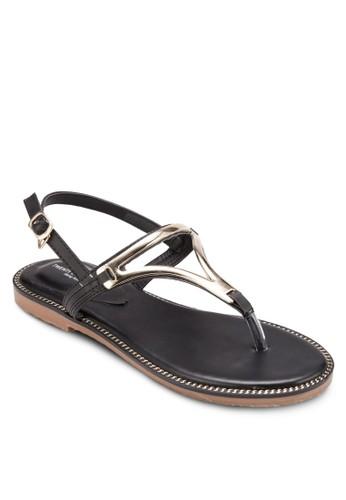 鏤空金屬感鞋帶涼鞋, esprit 澳門女鞋, 涼鞋