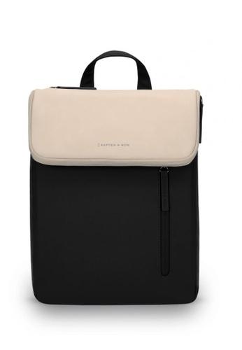 Kapten & Son black and beige Vallen Backpack - Cream Black 6F028AC03CFCB6GS_1