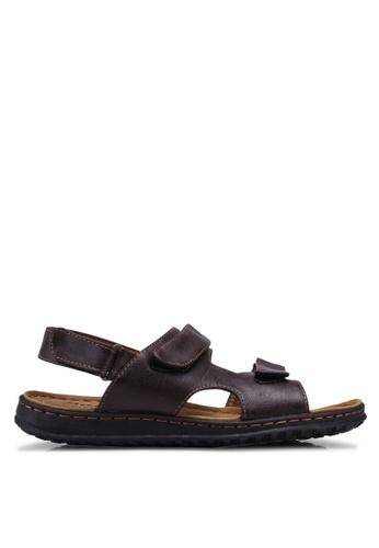 Bata 褐色 Strappy Sandals 0EF8DSH58A1E1EGS_1