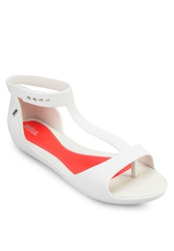 Optical II T 字帶涼鞋esprit sg, 女鞋, 涼鞋
