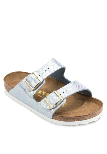 Arizona 暗紋扣環雙帶拖鞋涼鞋, 女鞋,esprit 折扣 鞋