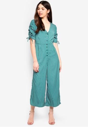 Glamorous green Polka Dot Jumpsuit 12DC9AAF13DFC1GS_1
