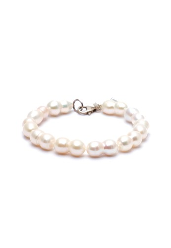 Celline Silver white White Baroque Fresh Water Pearl Bracelet 28DAEAC0063123GS_1
