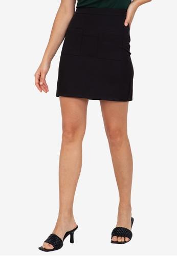 ZALORA WORK black Patch Pocket Mini Skirt 7F50DAAEECB528GS_1