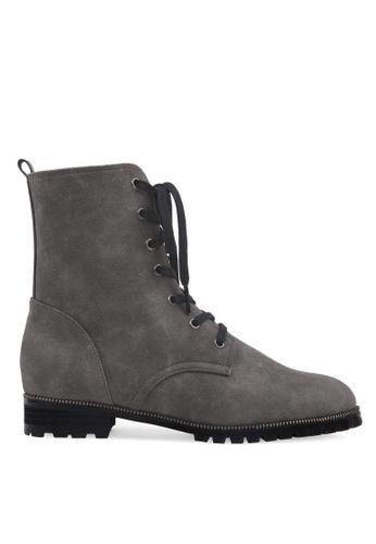 SPUR grey Zipper Accent Boots SP642SH2VRAIHK_1