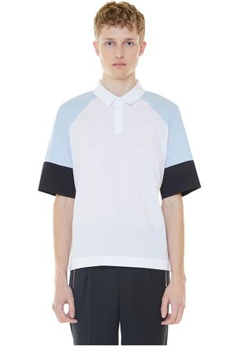 MILLOGREM blue Color Blocking Polo Shirt MI241AA0GNNLSG_1