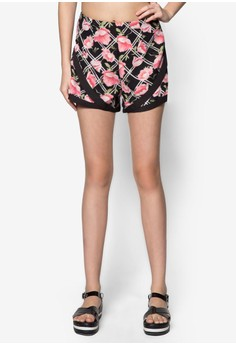 Love Contrast Hem Jogger Shorts