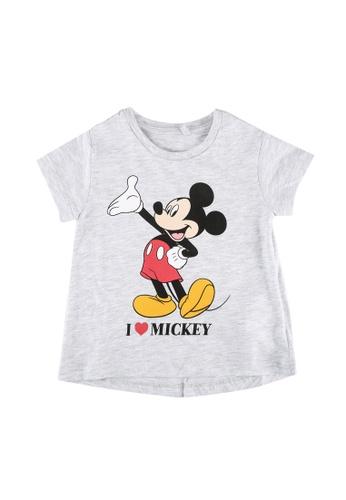 FOX Kids & Baby grey and white Baby Girls Mickey Print Tee A26B5KA17386E5GS_1