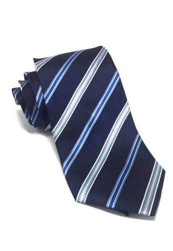 Splice Cufflinks blue Satiny Series Stripes Navy Blue Silk Tie SP744AC46FGJSG_1