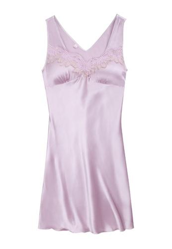 ZITIQUE pink Ice Ribbon Breast Pad Sleepwear-Pink BA4EDUS17FE336GS_1