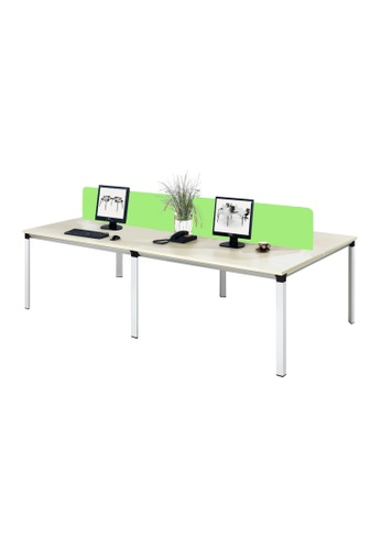 AMERCIS white Amercis Progue 1500L Office Table for 4 66542HL591B6E1GS_1