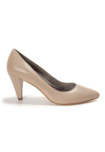 Shu Talk beige AMAZTEP Simply Elegant Pointed Toe High Heels 496B3SH6CE70AEGS_1