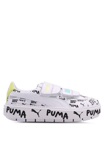 Puma Select white Puma x Shantell Platform Trace Strap Shoes 61BE9SHA2C592DGS_1