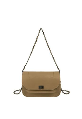 Rabeanco brown RABEANCO WING Shoulder Bag - Grey Khaki C384BAC3AFB26EGS_1