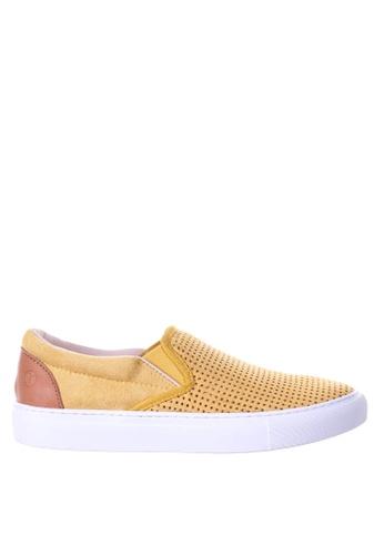 PRODUIT PARFAIT yellow Punch Slip On Sneaker 9E3A4SHE81DDF8GS_1