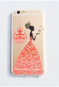 Woman and a Chandelier Soft Transparent Case for iPhone 6/6s
