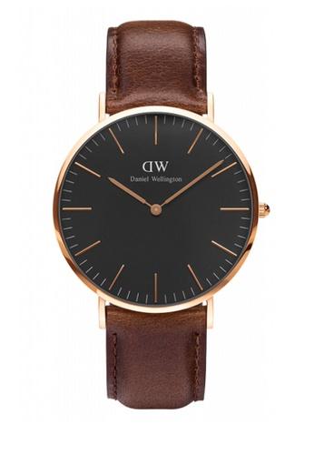 Daniel Wellington brown Classic Black Bristol Watch 40mm DA376AC90NBDMY_1
