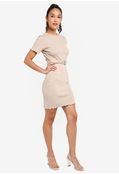 7ec311a4cbc69 32% OFF MISSGUIDED Ribbed Belted Short Sleeve Mini Dress S$ 46.90 NOW S$  31.90 Sizes 6 8 10 12 14