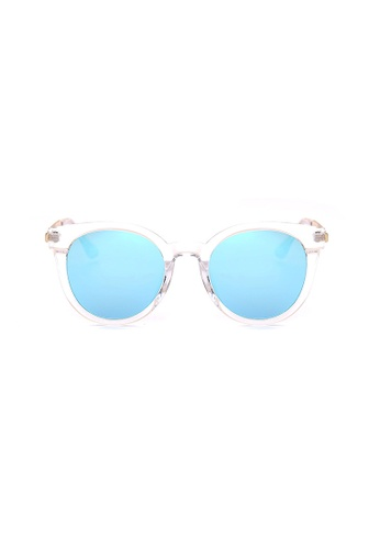 Kyfer's Eyewear & Essentials white and blue and gold Stylio Oversize Sunglasses KY376AC0FTR7SG_1