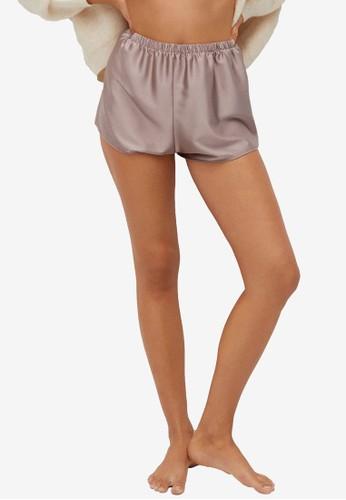 Mango pink Satin Shorts 52700AAB944B04GS_1