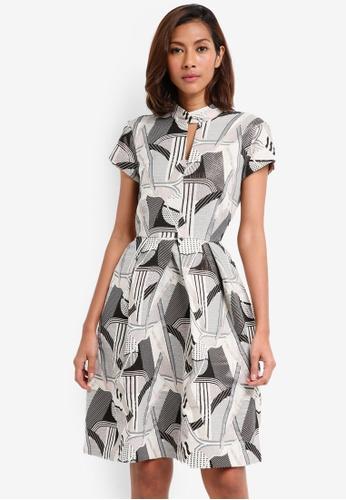 CLOSET grey Mandarin Collar Dress 99B32AA7C378E5GS_1