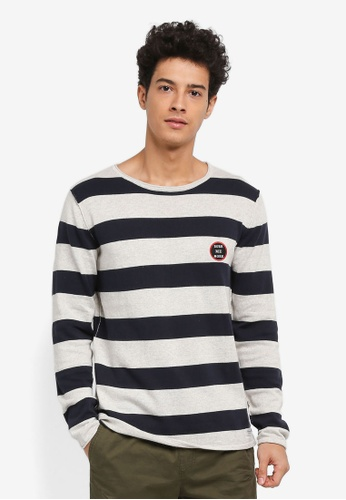 Jack & Jones grey Patch Knit Crew Neck Jumper 22E95AA6AF83D7GS_1