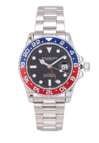 Stuhrling Original silver Meridian 3965 Watch 257CFAC9D8C38CGS_1