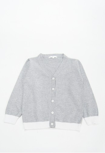 Cribcot grey Cardigan Two Tone Misty Grey BW 2548CKAEDC2B31GS_1