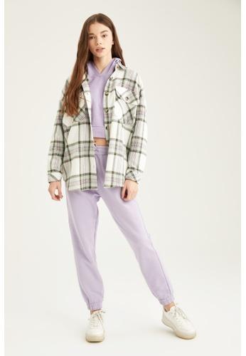 DeFacto green Woman Woven Long Sleeve Shirt 3A526AA2220545GS_1