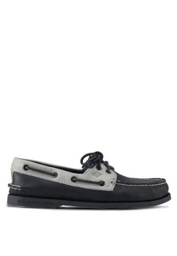 Sperry black A/O 2-Eye Daytona Loafers & Moccasins 2E685SHB80C3A2GS_1