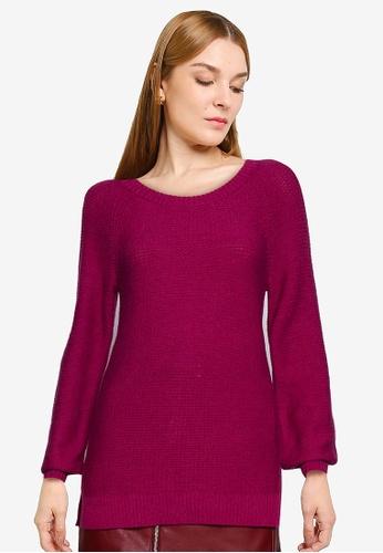 GAP purple Textured Brooklyn Crew Sweater 6A853AA54273E5GS_1