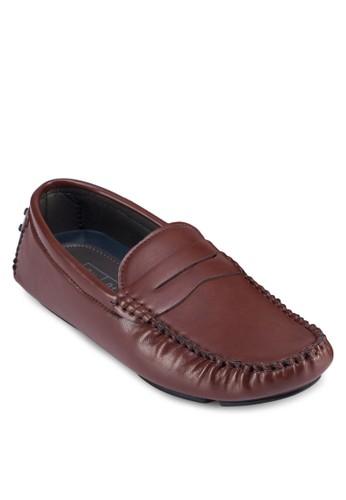仿皮飾帶莫卡esprit香港分店辛鞋, 鞋, 鞋