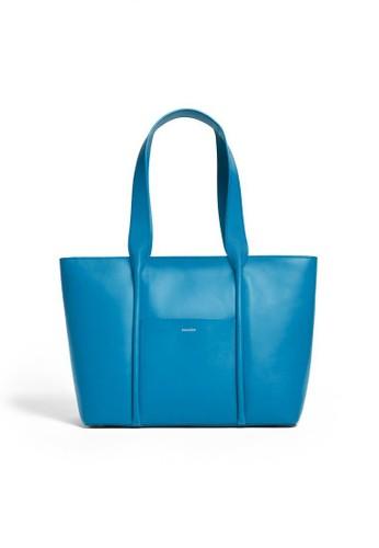 SKAGEN blue Skagen Lisabet - Leather - Tote - Tas Skagen Wanita - SWH0210433 6A58BACBE03D4AGS_1