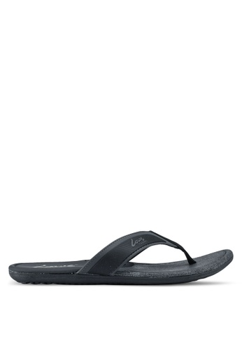 Louis Cuppers black Casual Slip On Sandals C83ACSH3433FEDGS_1