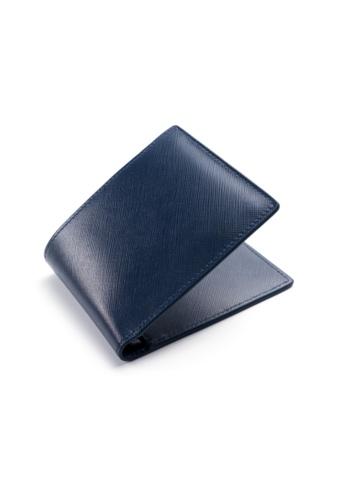 Crudo Leather Craft blue Senz'altro Short Wallet -  Saffiano Blue (Internal Coin Pocket) DAADDACEFE3CCEGS_1