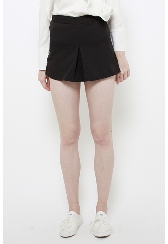 QLOTHE black Dominica Structured Panel Shorts F2550AAE267DE5GS_1