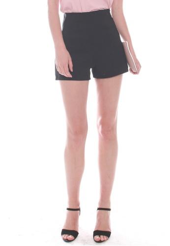 JOVET black Gold Zip Shorts C1963AA901F886GS_1