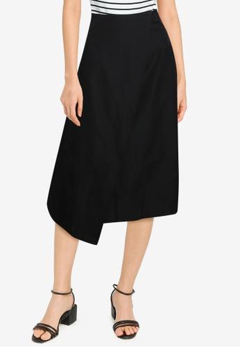 ZALORA BASICS black High Waist Wrap Skirt 1D362AA236438BGS_1