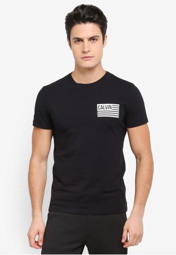 Calvin Klein black Takeos Slim Crew Neck Short Sleeve T-Shirt - Calvin Klein Jeans CFB3AAA7276802GS_1