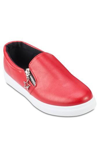 側拉鍊懶人鞋, 女鞋, esprit 羽絨外套鞋