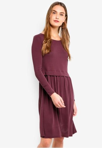 ICHI brown Selma Dress F5077AA61510A4GS_1